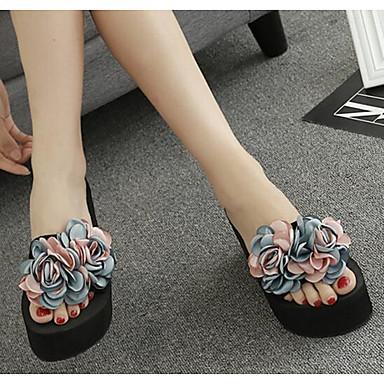 Media flops y 06672076 Zapatillas EVA Verano plataforma Iris Mujer Champaña Arco flip Confort Borgoña Aqf0IxY
