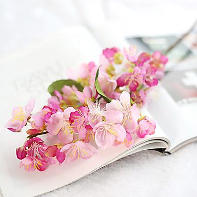Sztuczne Kwiaty 1 Gałąź Rustykalny / Ślub Śliwkowy / Sakura / Wieczne Kwiaty Bukiety na stół