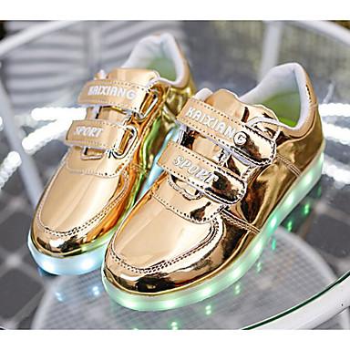Băieți Pantofi PU Primavara vara Confortabili / Pantofi Usori Adidași pentru Auriu / Argintiu