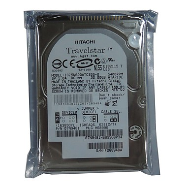 HITACHI Laptop / Notebook Hard Disk Drive 20GB IDE Travelstar
