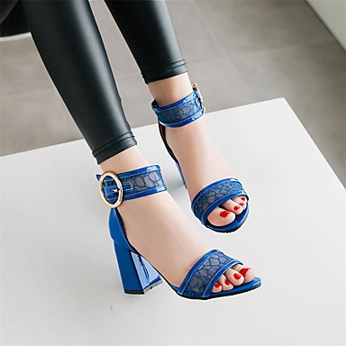 Bottier 06697556 Pièces Deux Sandales Eté Chaussures Evénement Similicuir Noir Soirée Femme Bout ouvert amp; Bleu amp; Boucle D'Orsay Talon Blanc 4cWqzFySyw