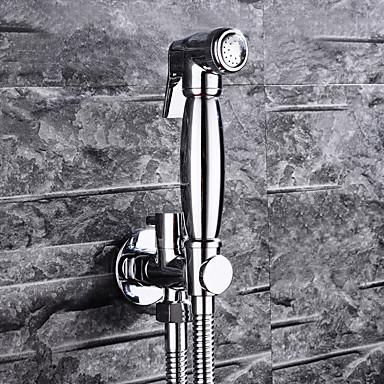 Современный На стену Вытяжной смеситель Керамический клапан Одно отверстие Одной ручкой одно отверстие Хром, Ванная раковина кран