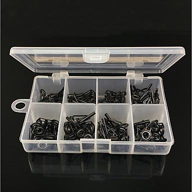 abordables Accessoires de pêche-80 pcs Boîte à appâts Pêche Guides Rod Acier de charbon Durable Pêche d'eau douce Pêche au leurre Pêche générale