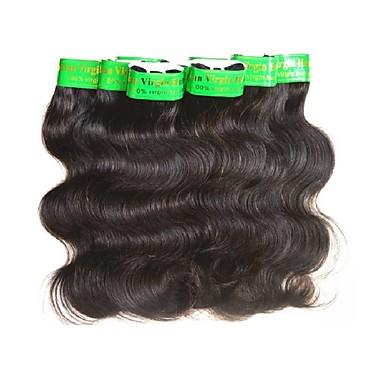 billige Hårvever med ekte hår-8 pakker Indisk hår Krop Bølge 10A Ubehandlet hår Remy Menneskehår Veving Naturlig Farge Hårvever med menneskehår Ekstensjon sexy Lady Hot Salg Hairextensions med menneskehår Dame