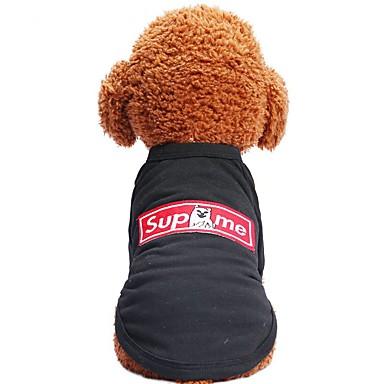 Câini / Pisici / Animale de Companie Tricou Îmbrăcăminte Câini Animal / Desene Animate / Motto & Zicale Negru Bumbac Costume Pentru