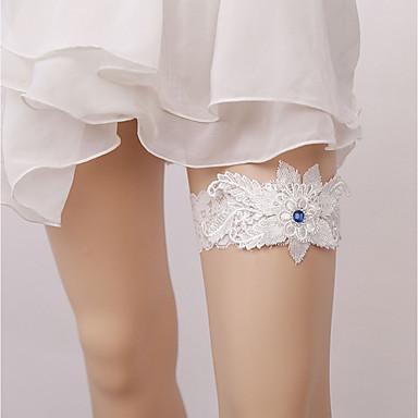Piatră Preţioasă / Dantelă Dantelă Nunta Garter Cu Floral Jartiere Nuntă / Party & Seară