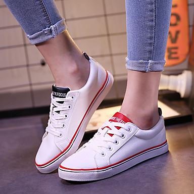 deporte Mujer Rayas A Confort de Plano Zapatos 06695497 Negro Tacón Otoño Blanco Rojo Sintético Zapatillas nAqBpwRAU