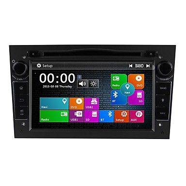 voordelige Automatisch Electronica-Factory OEM 7 inch(es) 2Din Windows CE 6.0 Ingebouwde Bluetooth / GPS / RDS voor Opel Ondersteuning / Aanraakscherm / DVD-R / RW / VCD