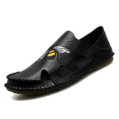 Men's White PU(Polyurethane) Summer Comfort Sandals White Men's / Black / Gray aa37eb