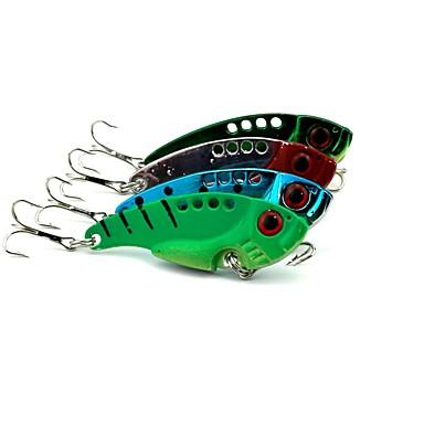 4pcs buc Δόλωμα Momeală metalică Metalic Pescuit mare / Pescuit cu Muscă / Aruncare Momeală