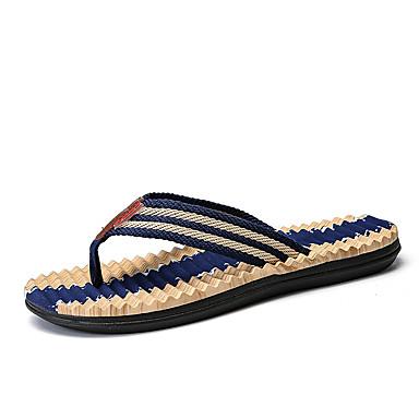 Bărbați Pânză Vară Confortabili Papuci & Flip-flops Maro / Verde / Albastru
