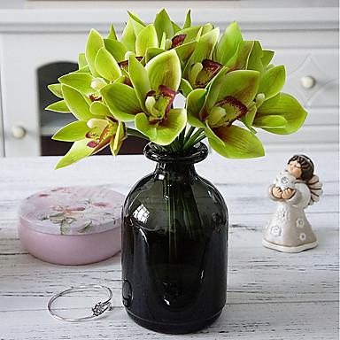 Flori artificiale 4.0 ramură stil minimalist / Pastoral Stil Orhidee / Plante Față de masă flori / Nu e inclus