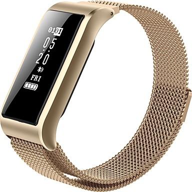 billige Smarte aktivitetsmålere, klips og armbånd-Smart armbånd B28 til iOS / Android Blodtrykksmåling / Kalorier brent / Lang Standby / Pekeskjerm / Vannavvisende Søvnmonitor / Stillesittende sittende Påminnelse / øvelse Påminnelse / Pulsometer
