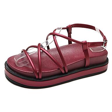 PU 06675927 Plano Negro Wine Sandalias Confort Verano Mujer Zapatos Tacón SH5qFF