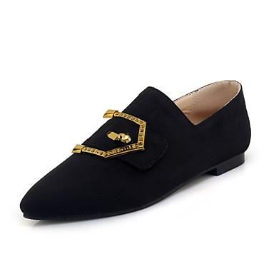 Slip Amarillo taco On Negro Confort de Paseo bajo Puntiagudo Plano verano 06695428 Zapatos Terciopelo Dedo Primavera Rosa y Zapatos Mujer Tacón qxvUAT