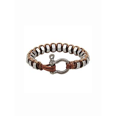 baratos Bangle-Bracelete Geométrico Vintage Rock Legal Corda de cânhamo Pulseira de jóias Preto / Marron Para Presente Rua
