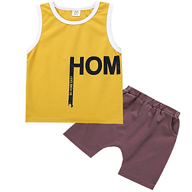 Copii Băieți Mată Fără manșon Set Îmbrăcăminte
