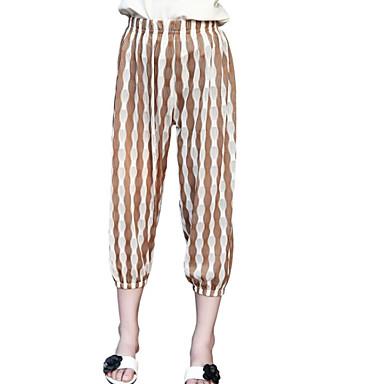 Dzieci Dla dziewczynek Podstawowy Prążki Nadruk Bawełna Spodnie