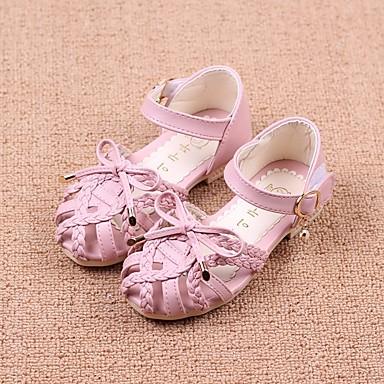 1945bb18d6bfd0 Girls  Shoes Leatherette Summer Comfort   Flower Girl Shoes Sandals for  Beige   Blue   Pink