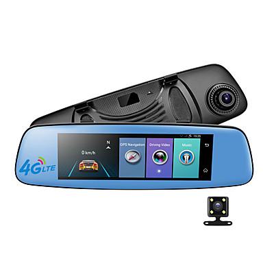 abordables DVR de Voiture-E06 1080p Vision nocturne DVR de voiture 140 Degrés Grand angle 7.85 pouce IPS Dash Cam avec GPS / G-Sensor / Enregistrement en Boucle 4 LED infrarouge Enregistreur de voiture