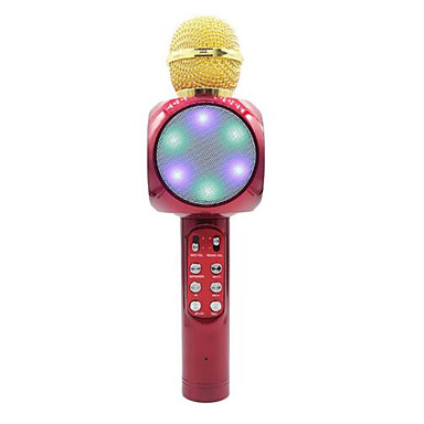 abordables Microphones-1816 Bluetooth Microphone haut-parleur sans fil Microphone Dynamique Microphone à Main Pour Microphone de Karaoké