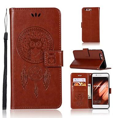 Maska Pentru Huawei P10 Plus Portofel / Titluar Card / Cu Stand Carcasă Telefon Bufniţă Greu PU piele pentru P10 Plus