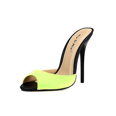 Pentru femei Pantofi Mătase Vară Pantof cu Berete Sandale Toc Stilat Vârf rotund Verde / Albastru / Albastru Deschis / Nuntă