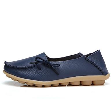 Slip Bajo taco Zapatos Confort de Oscuro bajo 06685897 On Otoño invierno Tacón Azul Zapatos Mujer Verde y Almendra Cuero CvxRnqwHxf