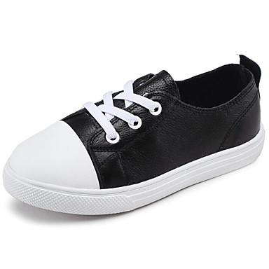 Băieți Pantofi Piele Primăvara & toamnă Confortabili Adidași pentru Alb / Negru
