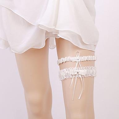 Șifon Satinat Stil Vintage Nunta Garter Cu Piatră Semiprețioasă / Funde / Găuri Jartiere Nuntă / Party & Seară