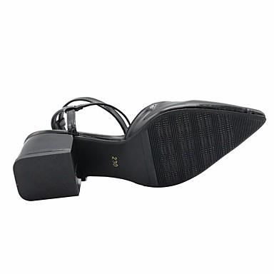 Mules Sabot PUT Jane Mary Femme Boucle Noir 06699716 Bottier Bout Polyuréthane Talon pointu amp; été Printemps Chaussures gxwnq0fz