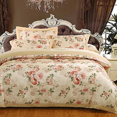 Seturi Duvet Cover Floral / Lux 100% bumbac / Bumbac Jacquard Jacquard 4 Piese