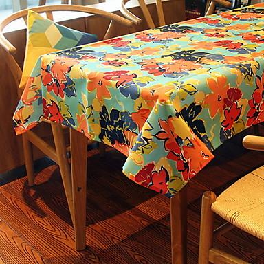 Współczesny 75g / m2 Poliester Stretch Knit / PVC Kwadrat Obrus Kwiaty Dekoracje stołowe 1 pcs