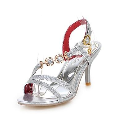 Escarpin Chaussures Strass Basique Eté 06681900 Femme amp; Soirée Bout Rouge Or Similicuir Argent Sandales ouvert Talon Aiguille Evénement wUdqwtp
