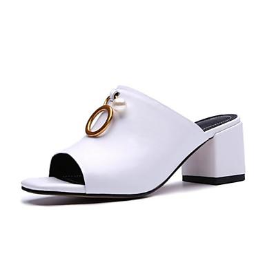 Cuir Chaussures Talon Sandales Eté 06659238 Noir Bottier Femme Confort Blanc Aq5wBZZ