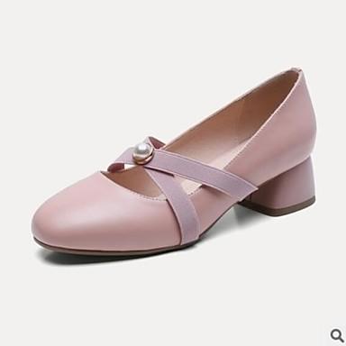 Femme 06656036 Bottier Talon à Talons Chaussures Eté Confort Chaussures Vert Véronèse Blanc Rose Cuir TpqwrTA