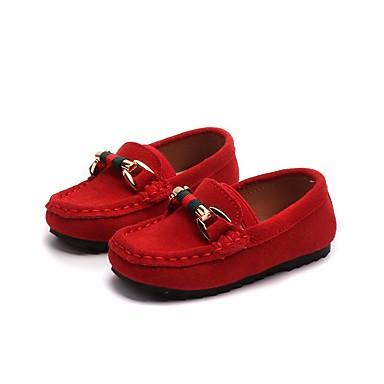 Fete Pantofi Piele Primăvară Confortabili Mocasini & Balerini pentru Negru / Galben / Rosu