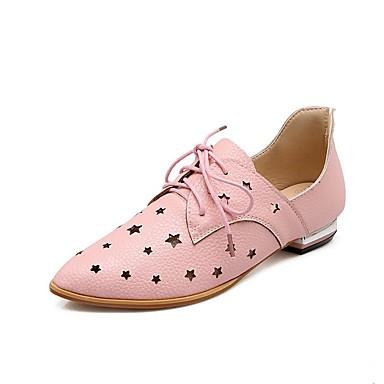 Damskie Obuwie Derma Wiosna lato Gladiatorki Oksfordki Niski obcas Pointed Toe Black / Silver / Light Pink