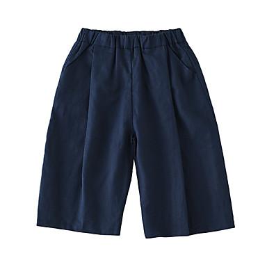 Copii Fete De Bază Mată Bumbac Pantaloni