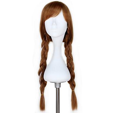Косплей Косплей Все 28 дюймовый Термостойкое волокно Коричневый Аниме Косплэй парики