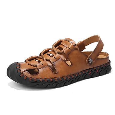 Męskie Buty Syntetyczny Microfiber PU Lato Comfort Sandały Black / Gray / Brown