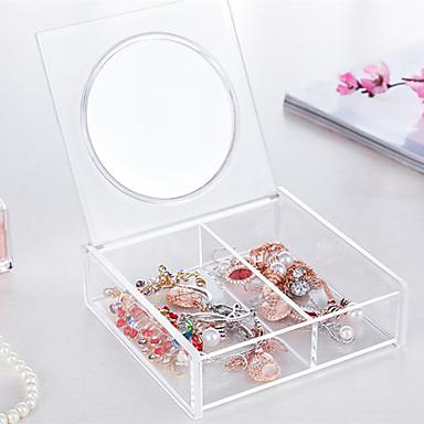 Plastic Dreptunghi Model nou Acasă Organizare, 1 buc Cutii stocare / Trusă de Machiaj / Organizator de Desktop
