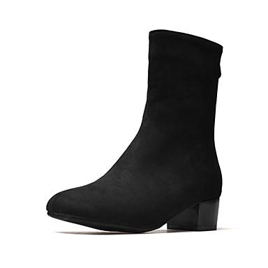 Mi Talon la Bottes Bottes Similicuir Mode Femme Vin Hiver rond 06713488 Chaussures Bout mollet Gris Bottier à Bottes Noir OXx0wq8fF