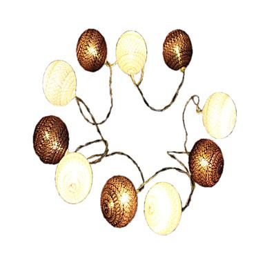 1.5 m Łańcuchy świetlne 10 Diody LED Ciepła biel Dekoracyjna Zasilanie bateriami AA 1 szt.