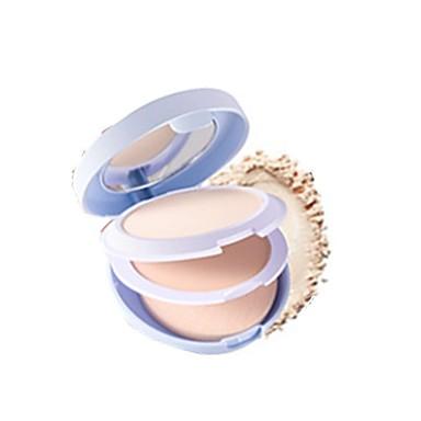 # / 2 kolory Zestaw do makijażu Pudry Puder prasowany 1 pcs Sucha Natutalne Kobiety # Słodkie Słodkie Makijaż Kosmetyk