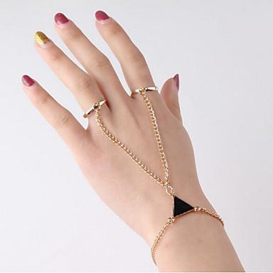 Damskie Geometric Shape Bransoletka z pierścionkiem - Vintage, Moda Bransoletki Złoty Na Randka Ulica