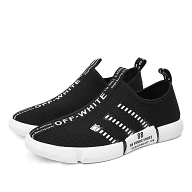 a9aa10b550c4 Men s Comfort Shoes Knit   Tulle Summer Sneakers White   Black   White    Black   Red   Athletic   Outdoor   Light Soles  06666212