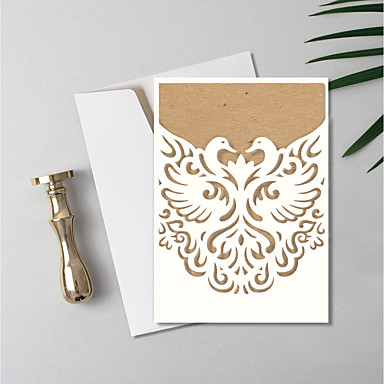 cheap Wedding Invitations-Gate-Fold Wedding Invitations 30pcs - Invitation Cards / Invitation Sample / Mother's Day Cards Artistic Style / Vintage Style Embossed Paper