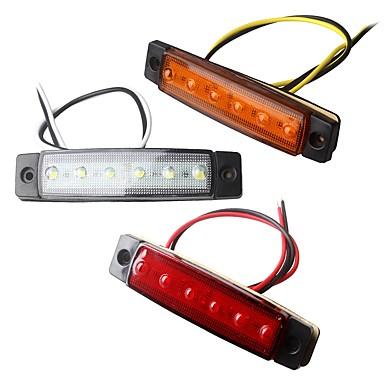 ZIQIAO 2pcs Samochód Żarówki 1.5W SMD LED 120lm 6 Światła zewnętrzne For Univerzál Univerzál Wszystkie roczniki
