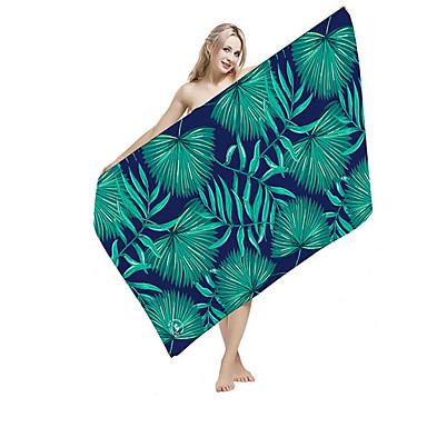 Calitate superioară Prosop de Plajă, Floral / Botanic / Imprimeu reactiv 100% Micro Fibră 1 pcs